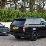 Black prestige cars