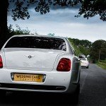 Bentley flying spur rear view