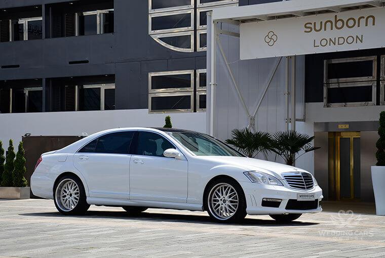 White Mercedes S class hire