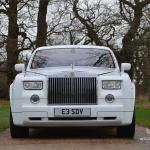 White Rolls Royce Phantom for hire