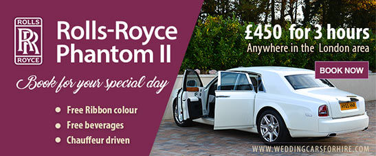 Rolls-Royce Phantom II hire offer