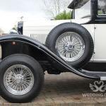 VINTAGE WEDDING CAR SIDE TYRE VIEW