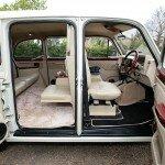 White Fairway London taxi leather interior