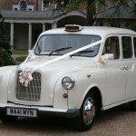 White London taxi London