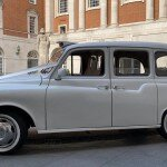 White London taxi side view