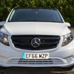 White Mercedes Viano front grill