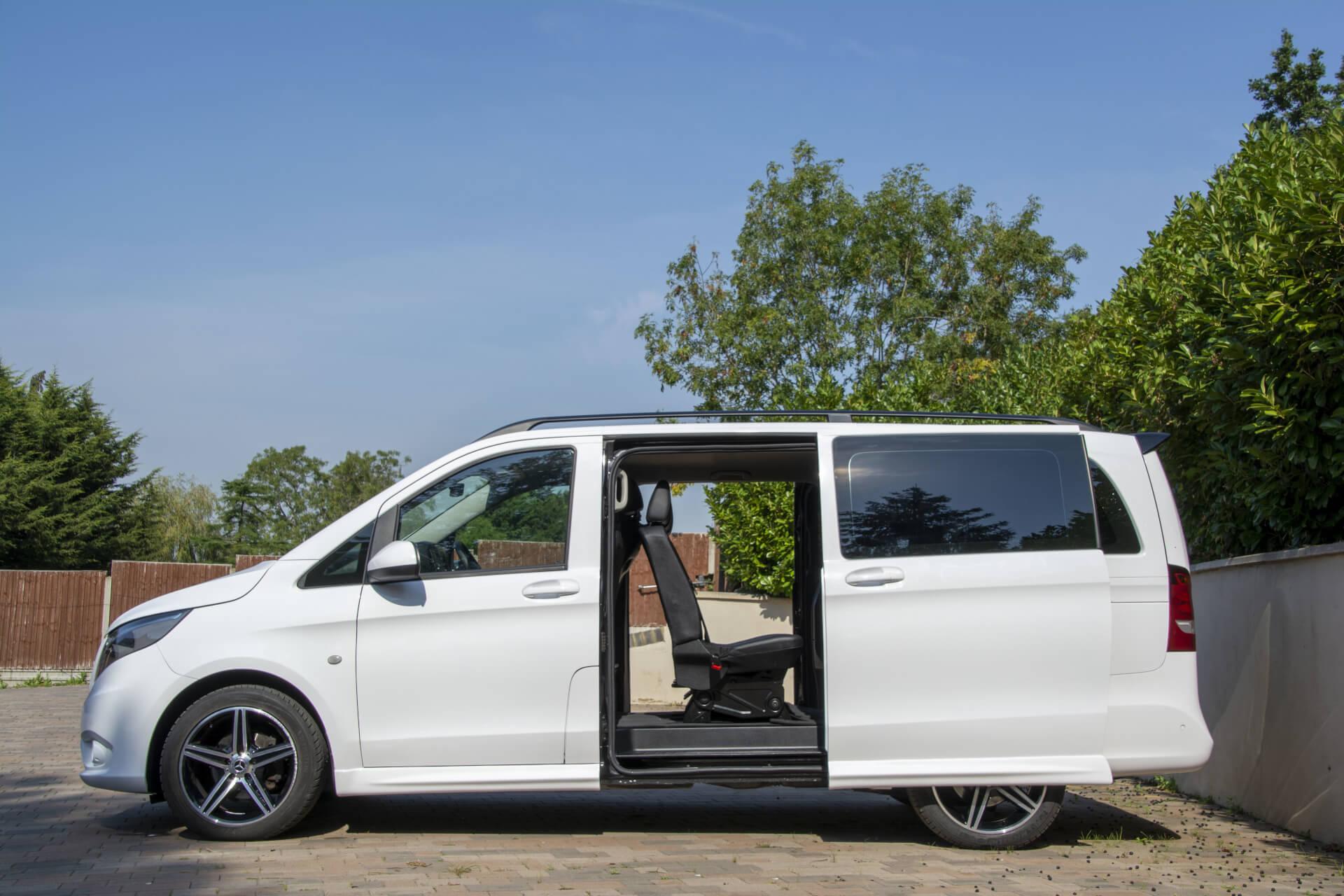 Mercedes Viano side doors opened