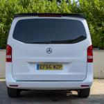 White Mercedes Viano rear