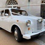 Classic White Fairway London taxi