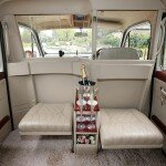White Fairway London taxi back leather seats