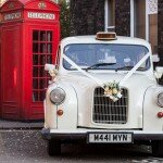 White Fairway London taxi