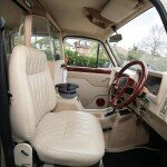 White Fairway London taxi driver seat