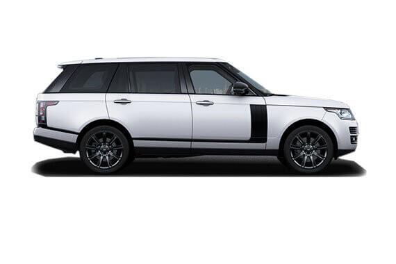 White Range Rover side view